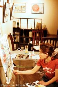 公開制作 painting at CAMARADA