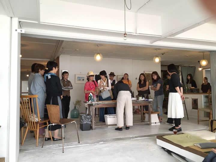 今井荘 梅原龍さん個展、ライブペイント企画