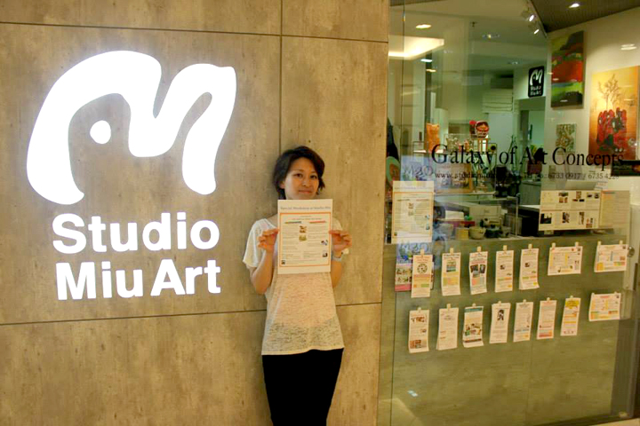 work shop studio Miu art in Singapore