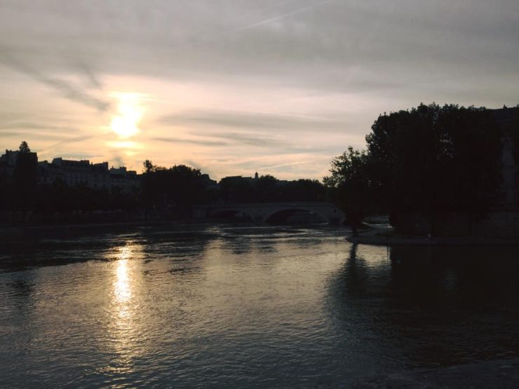 the Seine in the morning