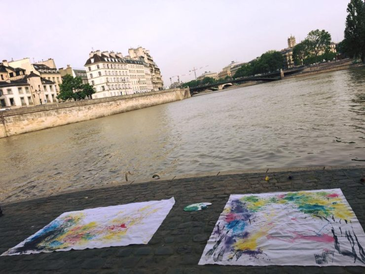 Painting at the Seine