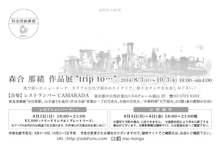 Tokyo Nakameguro CAMARADA nao morigo exhibition