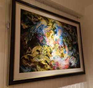 ダルビッシュコート内、絵画のようなペルシャ絨毯