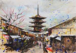 """nao morigo painting """"trip to Japan"""" for Interior"""